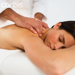 Woman Receiving Massage at Spa